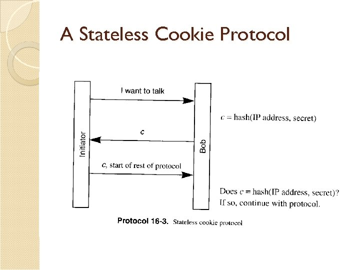 A Stateless Cookie Protocol
