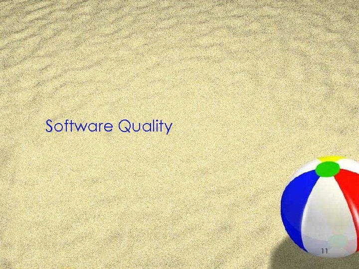 Software Quality 11