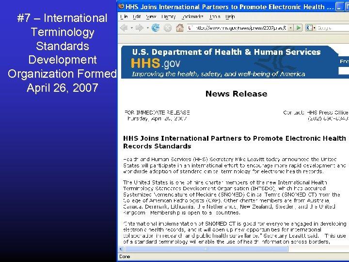 #7 – International Terminology Standards Development Organization Formed April 26, 2007