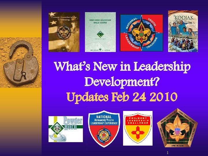What's New in Leadership Development? Updates Feb 24 2010 1