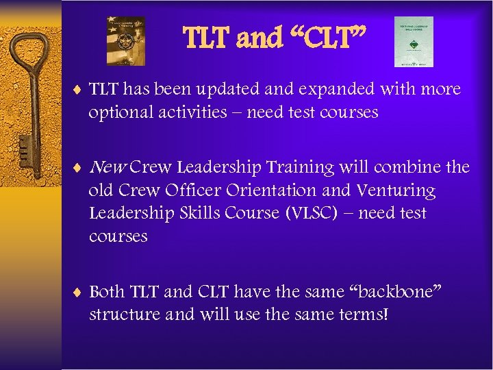 "TLT and ""CLT"" ¨ TLT has been updated and expanded with more optional activities"