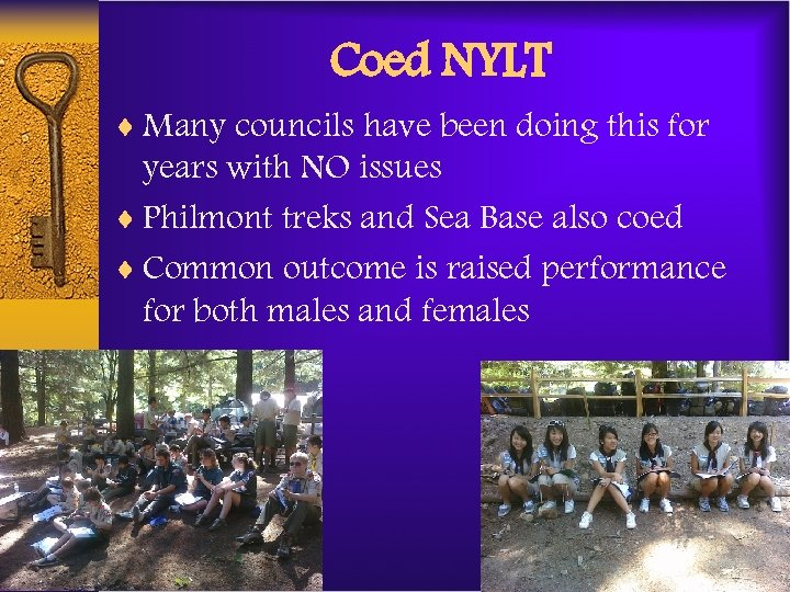 Coed NYLT ¨ Many councils have been doing this for years with NO issues