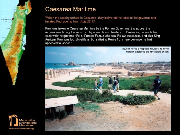 """Caesarea Maritime """"When the cavalry arrived in Caesarea, they delivered the letter to the"""