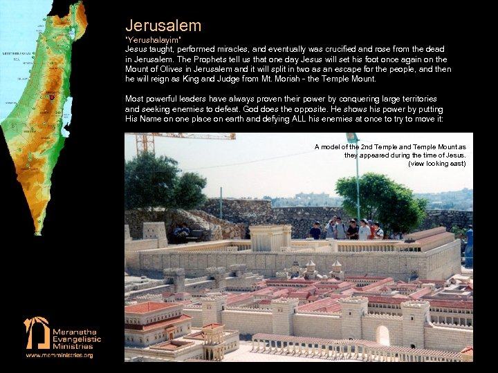"""Jerusalem """"Yerushalayim"""" Jesus taught, performed miracles, and eventually was crucified and rose from the"""