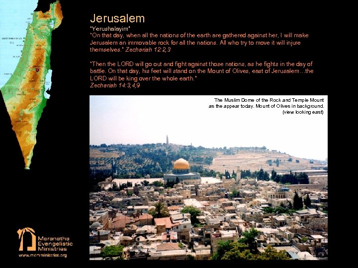 """Jerusalem """"Yerushalayim"""" """"On that day, when all the nations of the earth are gathered"""