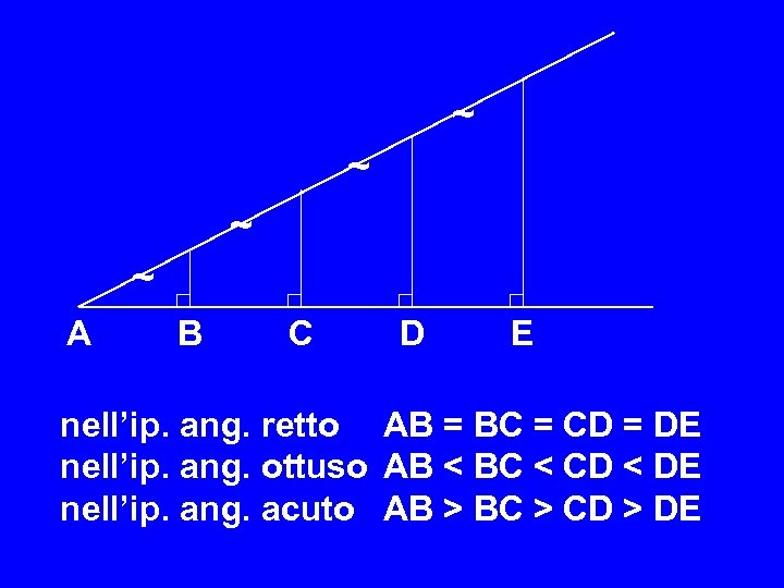 ~ ~ A B C D E nell'ip. ang. retto AB = BC =