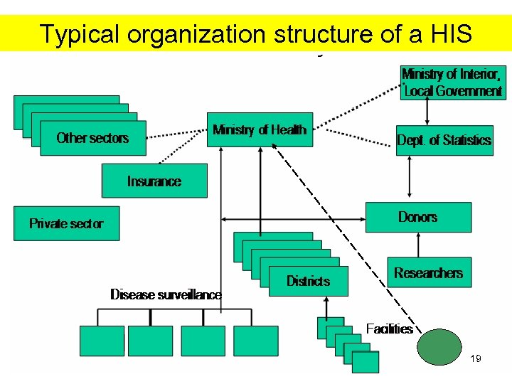 Typical organization structure of a HIS 19