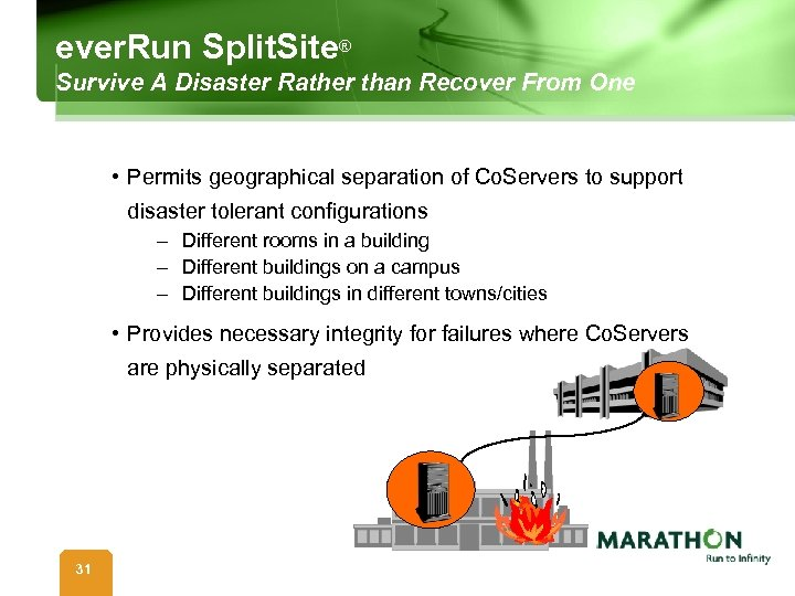 ever. Run Split. Site® Survive A Disaster Rather than Recover From One • Permits