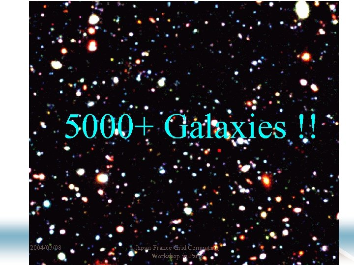 5000+ Galaxies !! 2004/03/08 Japan-France Grid Computing Workshop in Paris