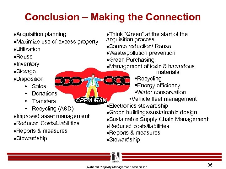"""Conclusion – Making the Connection l. Think """"Green"""" at the start of the planning"""