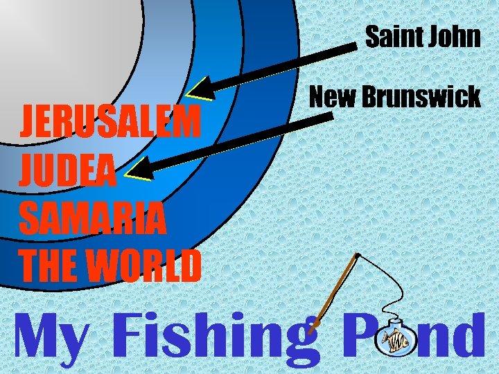 Saint John JERUSALEM JUDEA SAMARIA THE WORLD New Brunswick My Fishing Pond