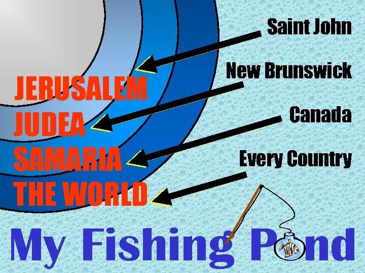 Saint John JERUSALEM JUDEA SAMARIA THE WORLD New Brunswick Canada Every Country My Fishing