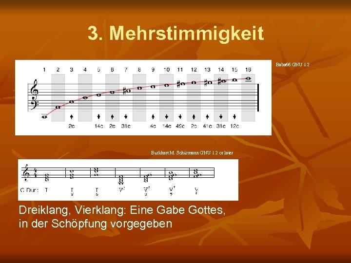 3. Mehrstimmigkeit Baba 66 GNU 1. 2 Burkhart M. Schürmann GNU 1. 2 or