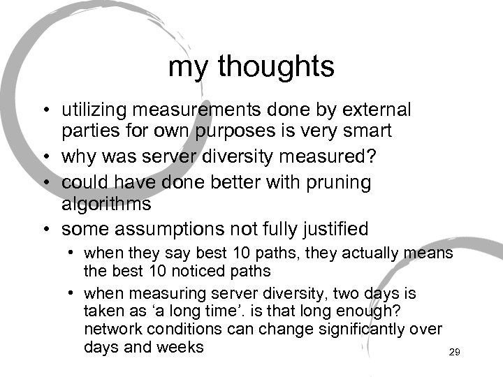 my thoughts • utilizing measurements done by external parties for own purposes is very