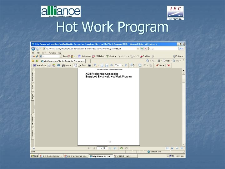 Hot Work Program
