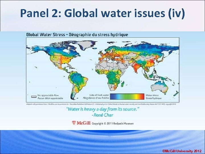 Panel 2: Global water issues (iv) ©Mc. Gill University 2012