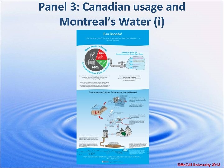 Panel 3: Canadian usage and Montreal's Water (i) ©Mc. Gill University 2012