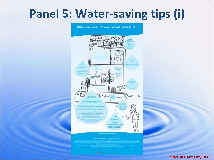 Panel 5: Water-saving tips (i) ©Mc. Gill University 2012