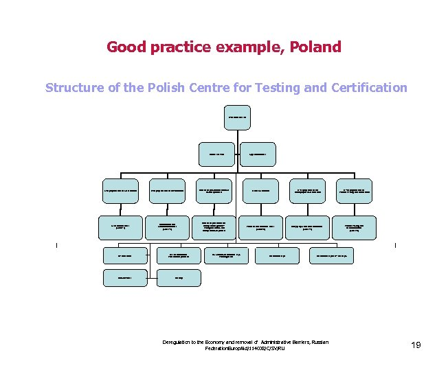 Good practice example, Poland Structure of the Polish Centre for Testing and Certification D-General