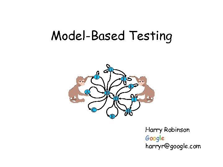 Model-Based Testing G J F K A B D C I H E Harry