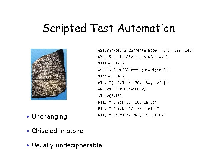 Scripted Test Automation WSet. Wnd. Pos. Siz(Current. Window, 7, 3, 292, 348) WMenu. Select(