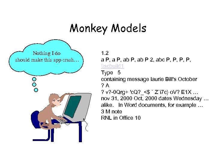 Monkey Models Nothing I do should make this app crash… 1. 2 a P,