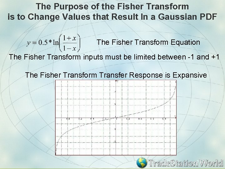The Purpose of the Fisher Transform is to Change Values that Result In a