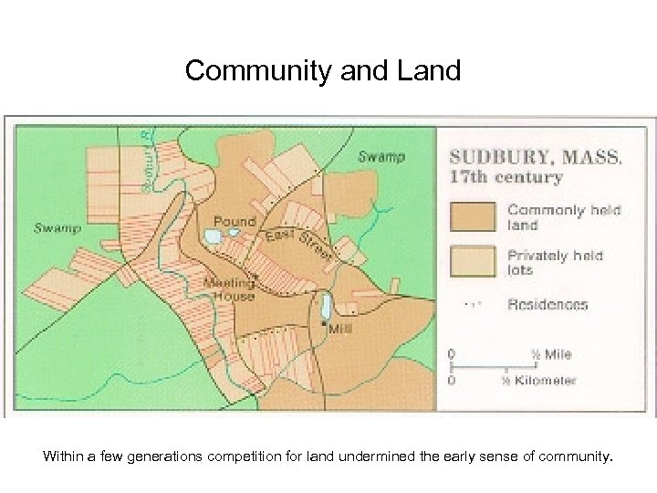 Community and Land Within a few generations competition for land undermined the early sense