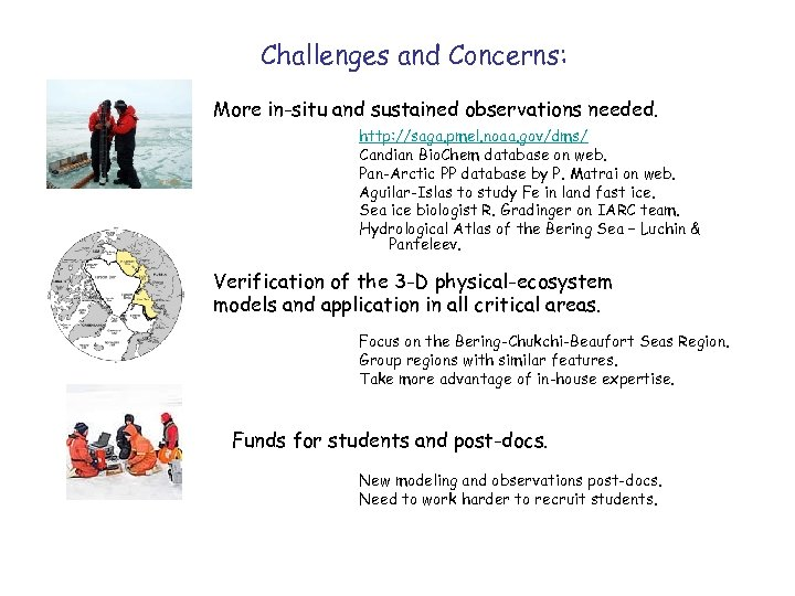 Challenges and Concerns: More in-situ and sustained observations needed. http: //saga. pmel. noaa. gov/dms/