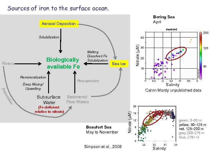 Sources of iron to the surface ocean. Bering Sea April Aerosol Deposition 200 Solubilization