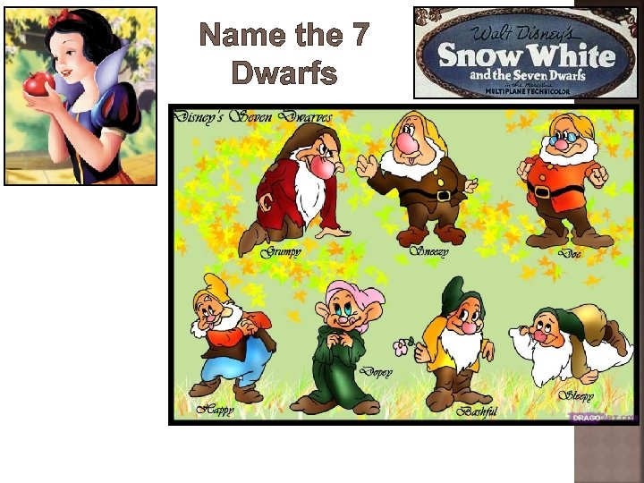 Name the 7 Dwarfs