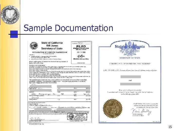 Sample Documentation 15