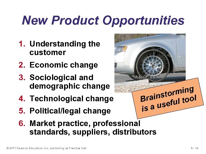 New Product Opportunities 1. Understanding the customer 2. Economic change 3. Sociological and demographic