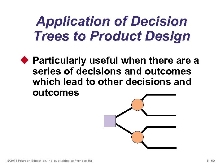 Application of Decision Trees to Product Design u Particularly useful when there a series