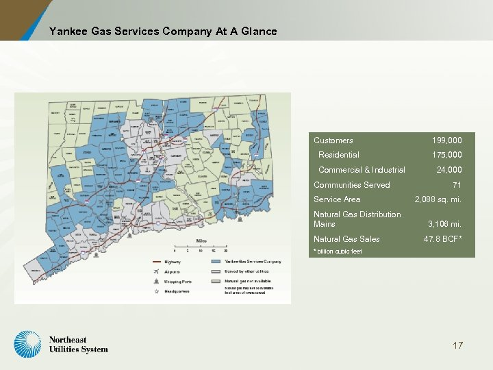 Yankee Gas Services Company At A Glance Customers Residential Commercial & Industrial Communities Served