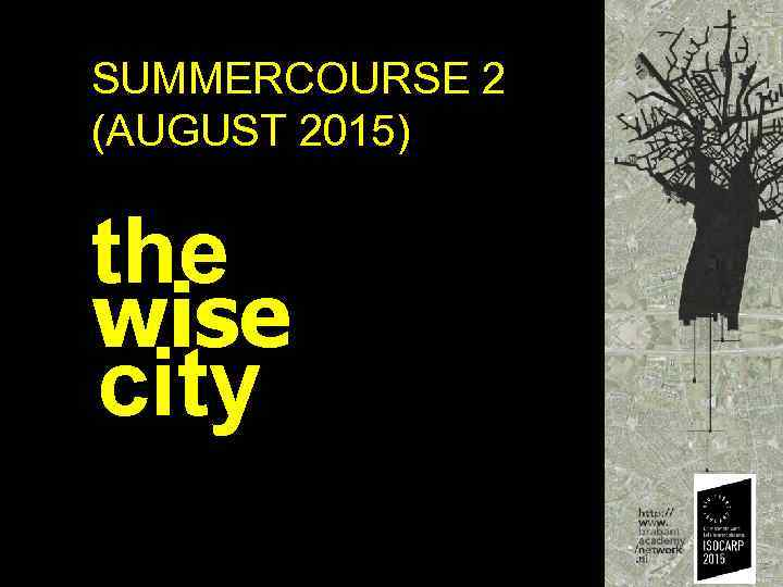 SUMMERCOURSE 2 (AUGUST 2015) the wise city