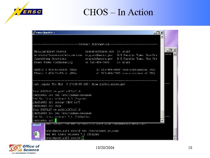 CHOS – In Action 10/20/2004 10
