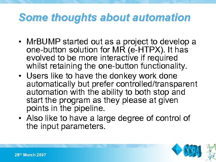 Some thoughts about automation • Mr. BUMP started out as a project to develop