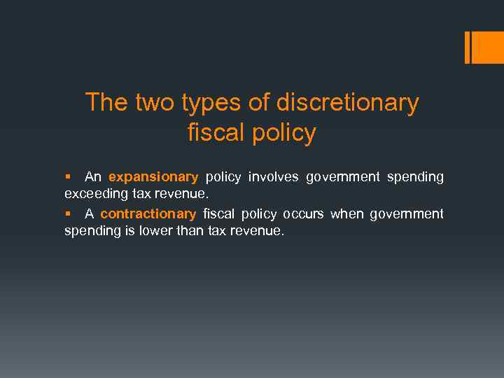 what are the two types of fiscal policy