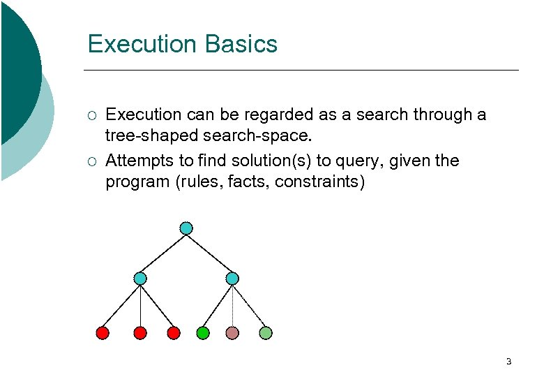 Execution Basics ¡ ¡ Execution can be regarded as a search through a tree-shaped