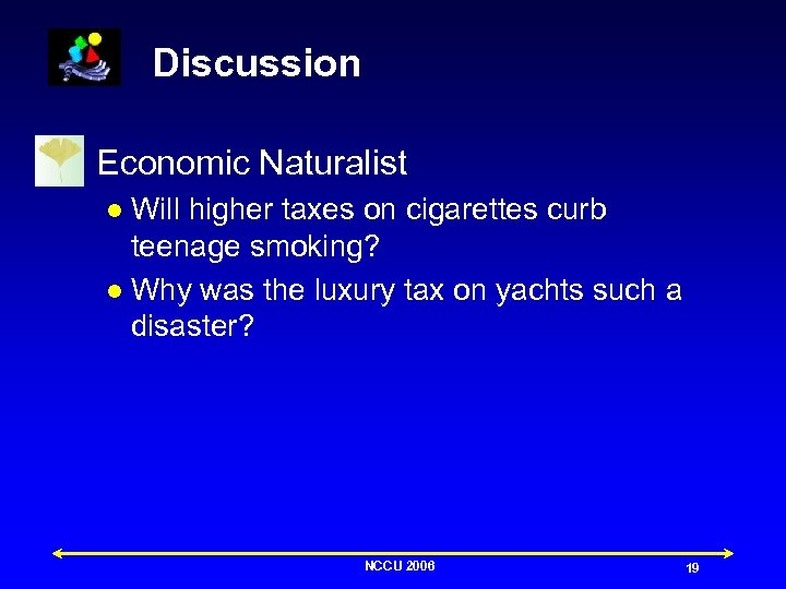 Discussion n Economic Naturalist Will higher taxes on cigarettes curb teenage smoking? l Why