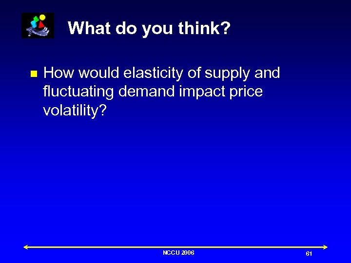 What do you think? n How would elasticity of supply and fluctuating demand impact