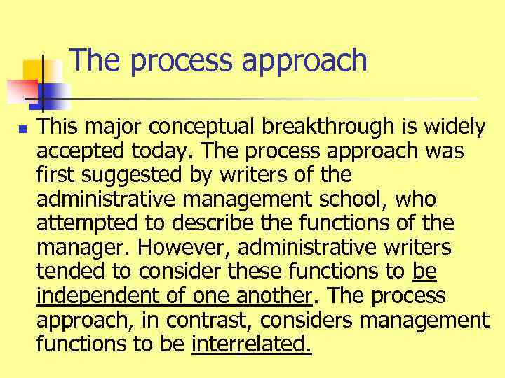 administrative management approach