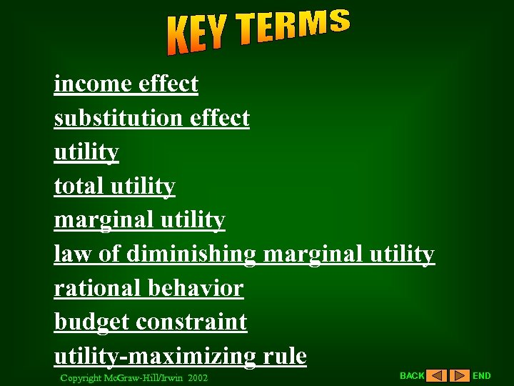 income effect substitution effect utility total utility marginal utility law of diminishing marginal utility