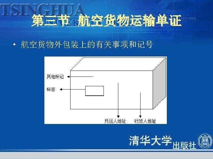 第三节 航空货物运输单证 • 航空货物外包装上的有关事项和记号