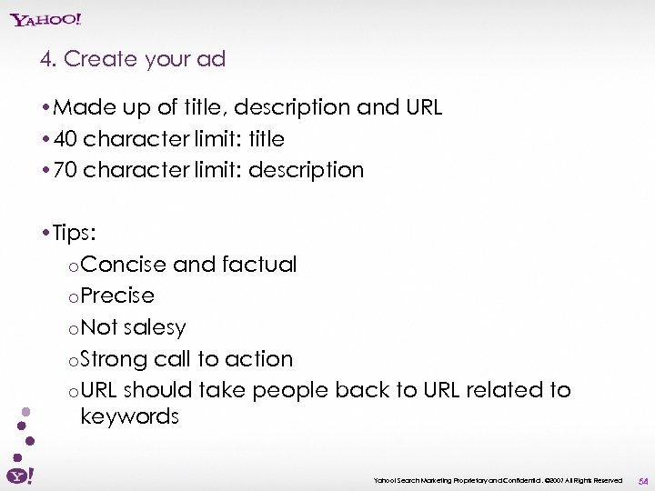4. Create your ad • Made up of title, description and URL • 40