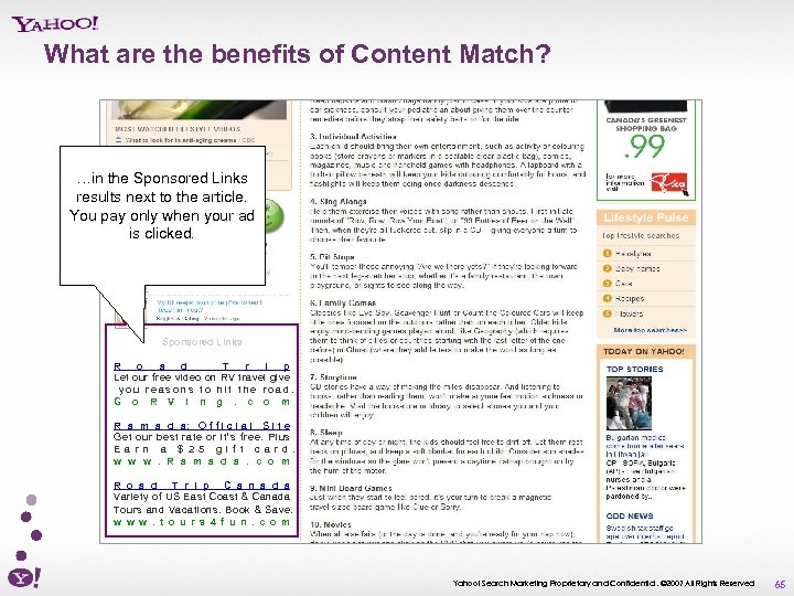What are the benefits of Content Match? …in the Sponsored Links results next to
