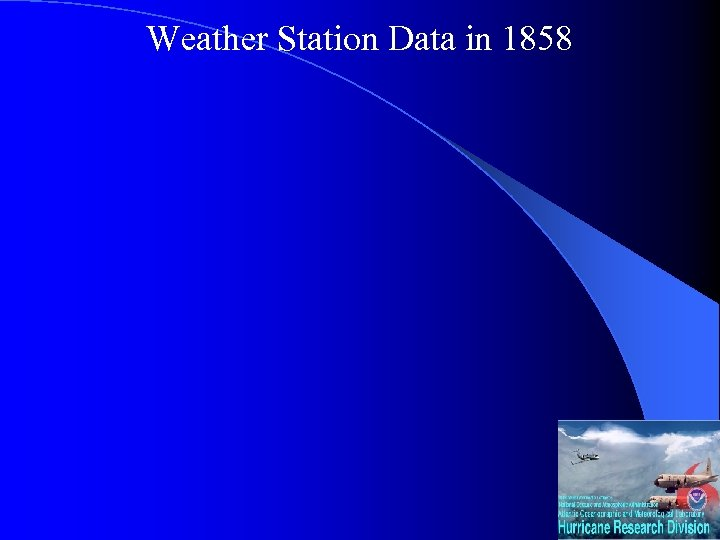 Weather Station Data in 1858