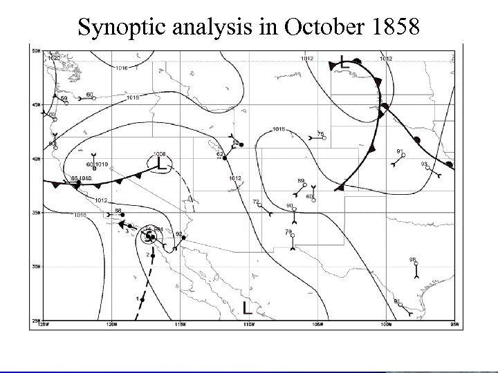 Synoptic analysis in October 1858