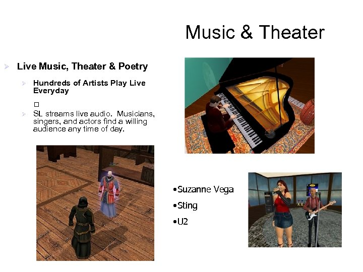 Music & Theater Ø Live Music, Theater & Poetry Ø Hundreds of Artists Play